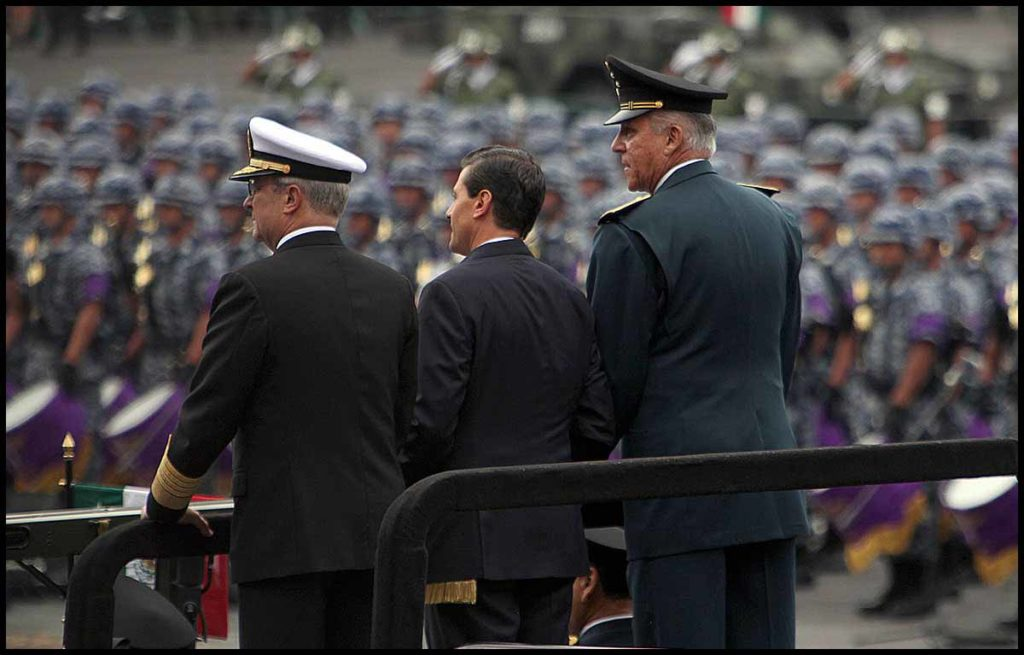 Desfile militar por el 205 Aniversario de la Independencia de M
