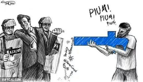 Las redes sociales encauzan o anulan la protesta social en México. Imagen: Reddit.