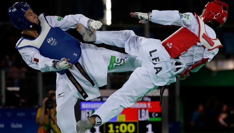 Taekwondoin mexicano 58 kilos.