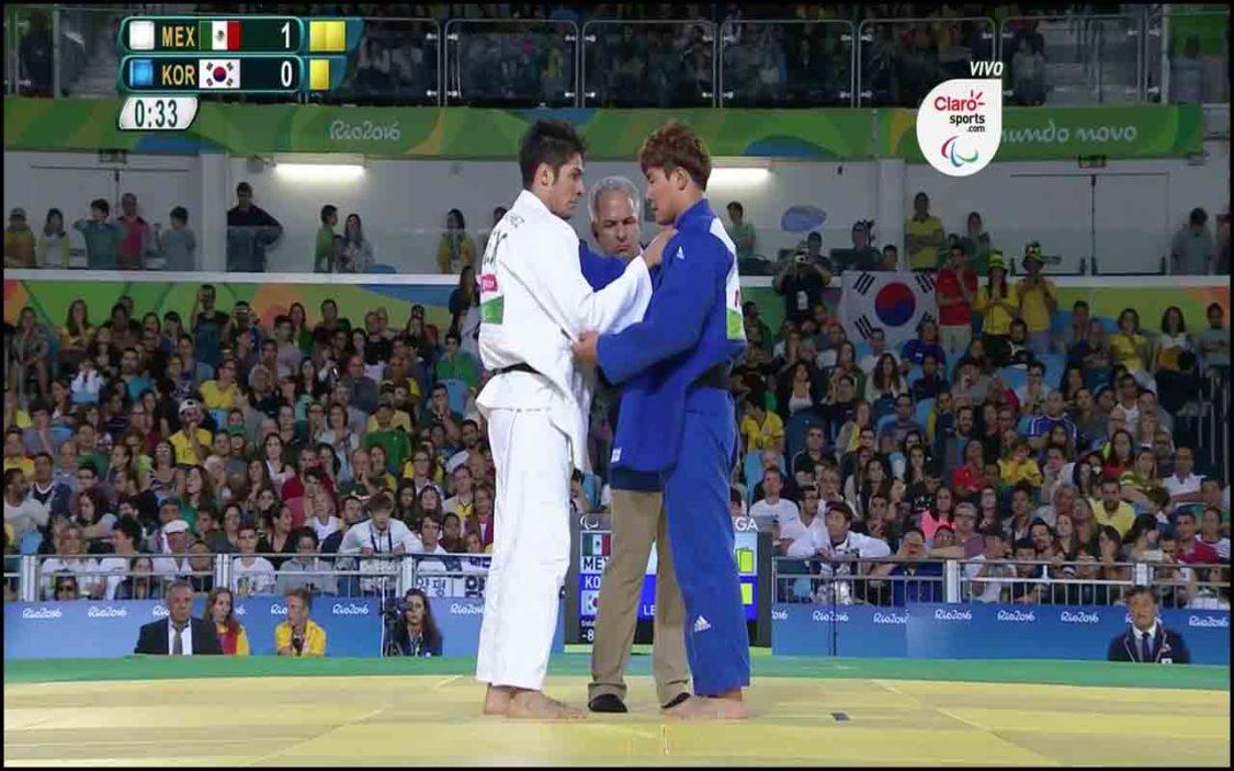 Eduardo Ávila contra Lee Jungming en Río 2016.