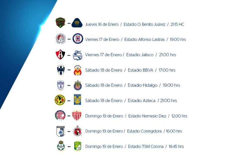 Segunda jornada de la Liga MX