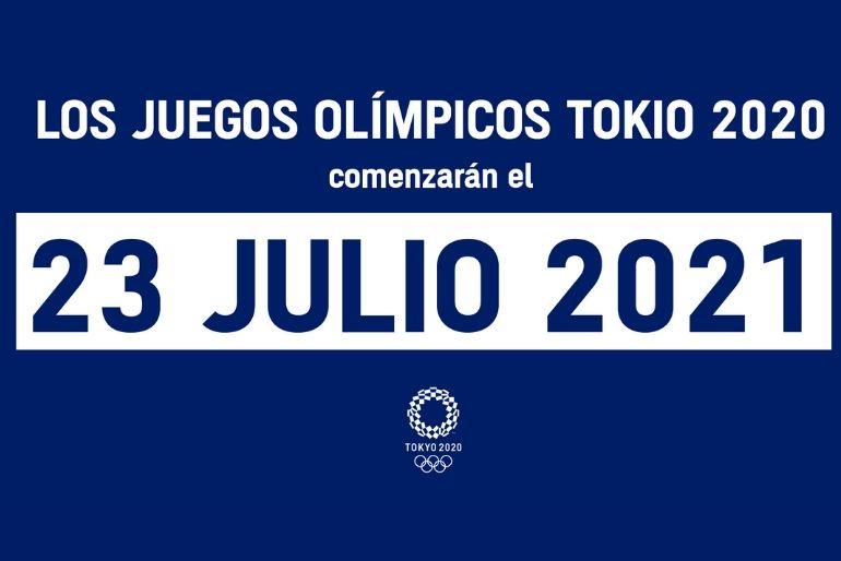 Los Juegos Olímpicos de Tokio 2020 ya tienen nueva fecha: junio de 2021